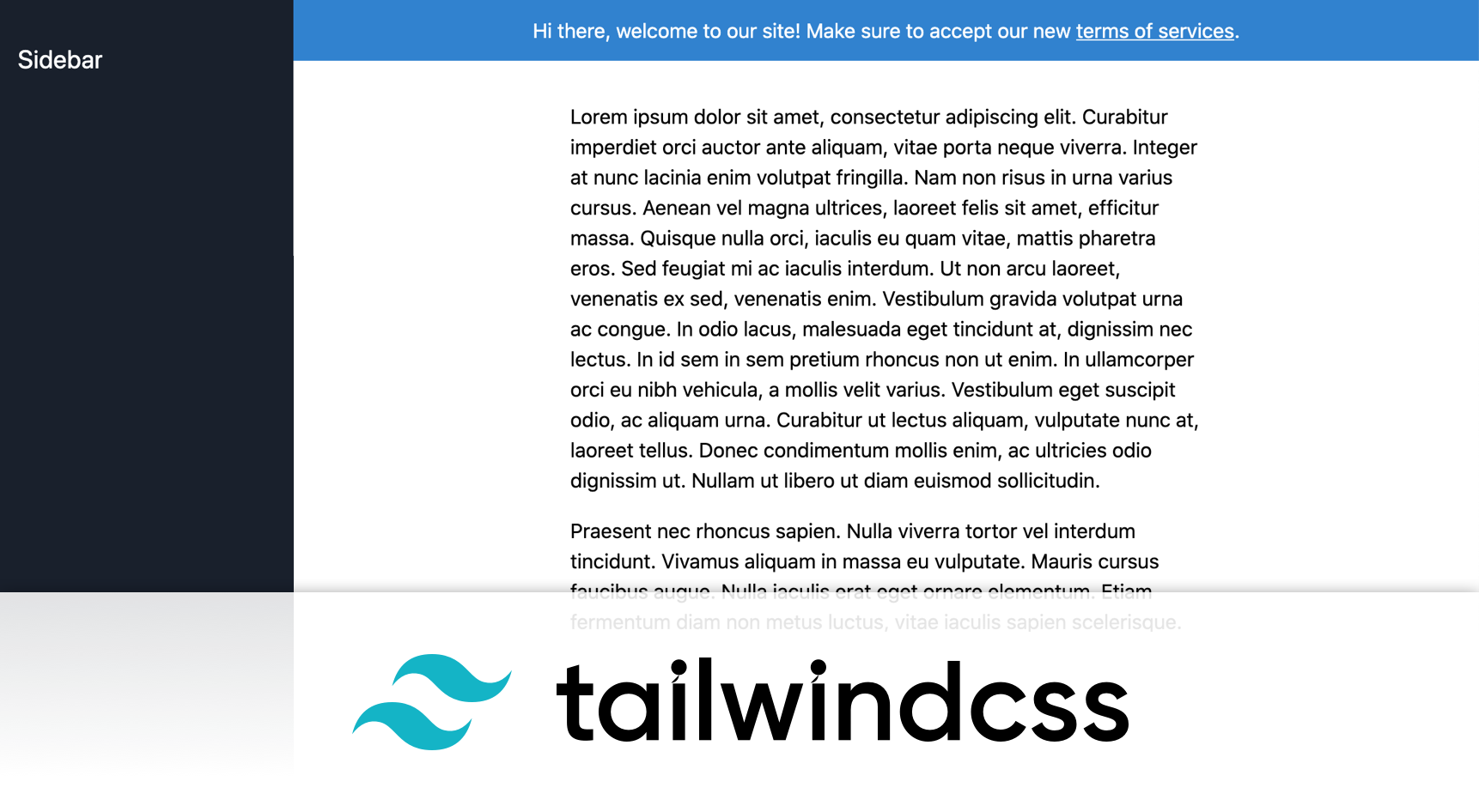 Sticky banner with Tailwind